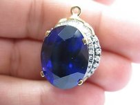 Levian Gem Tanzanite Diamond Huge Pendant Yellow Gold 34.88ct