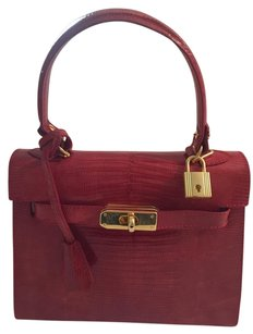 Other Lizard Special Occasions Argentina Satchel in Red