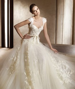 Long Sweetheart A-line Wedding Dress