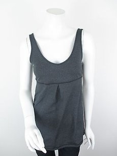 Lucy Activewear Gray Core Up Tunic Yoga Athletic Tank Top Sizes S