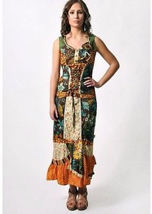 Multi-Color Maxi Dress by Other Savage Culture Brown Patchwork Print Maxi 210736lm