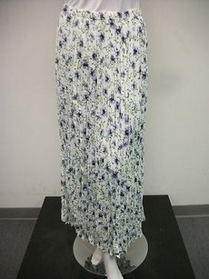Other My Boyfriends Back Flower Print Crinkled One Maxi Skirt Multi-Color