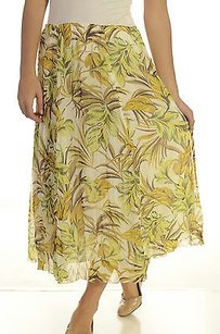Madison Hill Yellow Floral Maxi Skirt Multi-Color