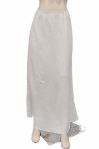 Comfy Usa Linen Pull On Maxi Skirt White