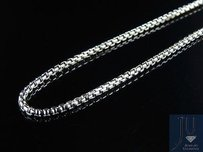 Mens 10k White Gold Genuine 1.5 Mm Puffed Rolo Chain Necklace 24-34 Inches
