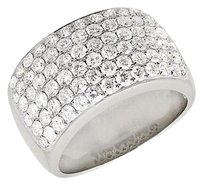 Mens 10k White Gold Pave Vs2 Genuine Diamond Engagement Pinky Ring Band 4.5ct