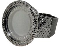 Mens 52mm Techno Com Kc Joe Rodeo Simulated Black Diamond Watch Ct