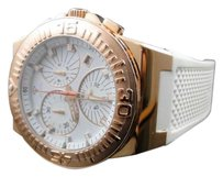 Mens Aqua Master Jojo Joe Rodeo Rose White Rubber Swiss Movement Watch 49 Mm