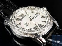 Mens Aqua Master White Gold Mm Mother Of Pearl Diamond Quartz Watch W127-2