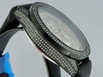 Mens Joe Rodeo Glory Jojo Jojino Black Metal Diamond Watch With Side Diamond