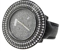 Mens Joe Rodeojojo Black And White 59 Mm Jrpt Diamond Watch 10.75 Ct