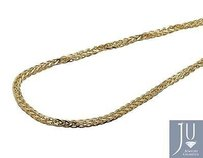 Mens Real 10k Yellow Gold Palm Wheat Chain Necklace 3mm 24-36 Inches