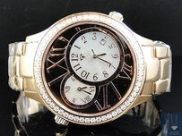 Mens Rose Aqua Master Jojino Joe Rodeo Time Zone Diamond Watch W141 2.45 Ct