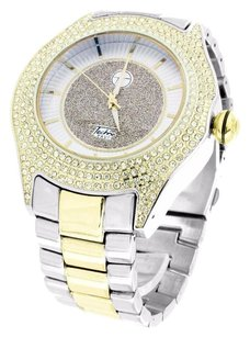 Other Mens Tone Watches Gold White Techno Pave Joe Rodeo Simulated Cz Stones Jojino