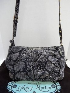 Other Frosting By Mary Norton Snake Print Cross Body Bag