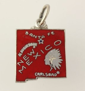 Other Mexico Dangle Pendant - 925 Sterling Silver State Red Womens Fine Estate