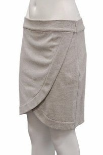 Other Matison Stone Light Grey Ellie Wrap Tulip Style Mini Mini Skirt Heather grey