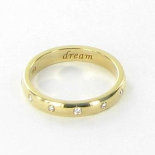 Monica Rich Kosann Charm Poesy Ring Dream 0.08cts Diamonds 18k Yg