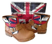 London Rebel Womens Ankle Brown Boots