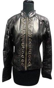 Other Laffaire Faux Long Sleeved Full Zipper 7445a Motorcycle Jacket