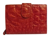 Mr Grasselli Red Leather Wallet Wristlet made in Italy