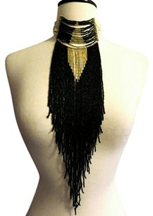 Multistrand Beaded Fringe Aztec Boho Statement Necklace