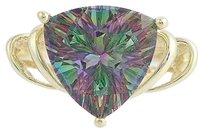 Mystic Topaz Cocktail Ring - 10k Yellow Gold 14 Womens 6.00ct