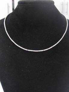 Other Neiman Marcus Ladies 18kt White Gold Diamond A.link Necklace 3.87ct