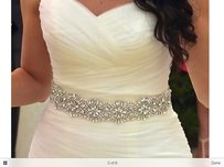 New Beautiful Sash Color Ivory Pearls And Crystals