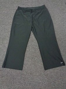 Nike Dri-fit Black Poly Blend Casual Casual Cropped Yoga Pants Sma7300