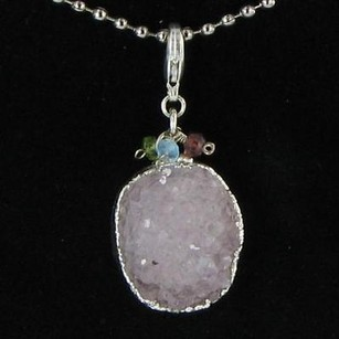 Other Nina Nguyen Galaxy Pendantenhancer Oval White Druzy 925 Silver Beads