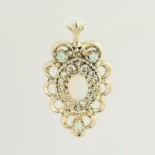 Opal Pendant - 14k Yellow Gold October Birthstone .90ctw