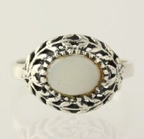 Opal Vine Cocktail Ring - 925 Sterling Silver Band Womens Fine Estate