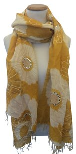 Other Orange Floral and Sequin Scarf