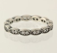 Other Pandora Leaves With Cubic Zirconia Ring - 925 Sterling Silver Band 190923cz