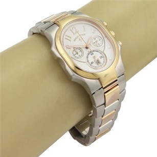 Philip Stein Two Tone Stainless Steel Oval Face Date Quartz Wrist Watch