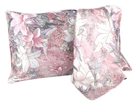 Preload https://item4.tradesy.com/images/other-pink-silk-pillowcase-100-silk-ivory-pink-grey-color-with-lilly-print-standard-size-19-x-30-48cm-x-76cm-envelope-style-3258403-0-0.jpg?width=440&height=440