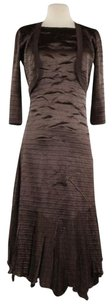Pleats Collection Womens Brown Dress Suit Career Cardigan
