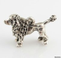 Other Poodle Charm - Sterling Silver 925 Show Dog Cute Pet Pendant 3d Fashion