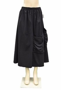 Ela Usa Combo Fabric Skirt Black