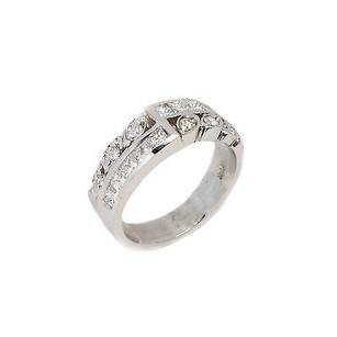 Other Ring 14k White Gold 0.88ct Round Princess Shape G Vs1 5.2 Grams Womens