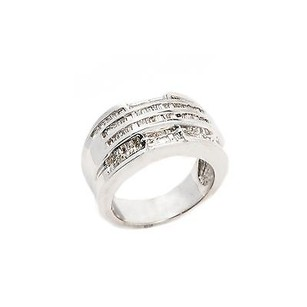 Other Ring 14k White Gold 1.3 Ct J P2 Baguette Diamond 10.4 Grams