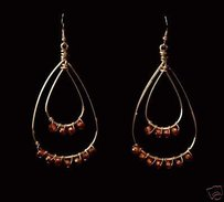 Robyn Rhodes Double Hoop Dangle Earrings The Annie In Silver Pink Stones