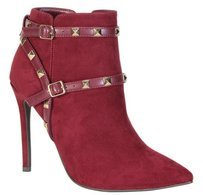 Other Rockstud Rock Stud Studded Suede Red Boots