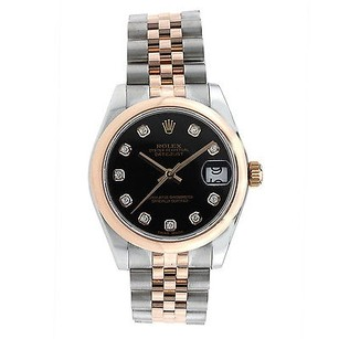 Rolex Datejust 31mm Steel And Rose Gold - Diamond Dial -178241 Wrist Watch
