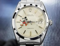 Other Rolex Precision 6694 Mens Vintage Swiss Made Watch With Mickey Mouse Dial 4059
