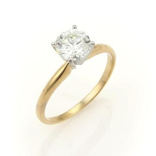 Round Cut 1.00ct J Vs1 Solitaire Diamond 14k Gold Engagement Ring Wgia Cert.