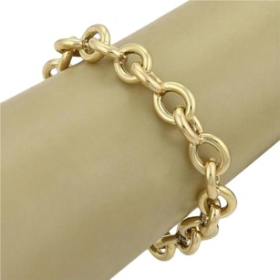 Round Link Chain 18k Yellow Gold Bracelet