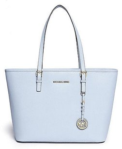 Michael Kors Jet Set Pale Satchel in Blue