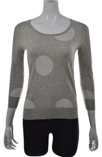 Hwr Womens Gray Scoop Neck Sweater